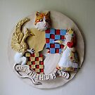 WONDERLAND PLAQUE 1 by ROSY LONG