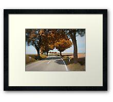 road to Bibertal II Framed Print