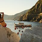 Relaxing - Italy - Cinque Terre by Claire Haslope