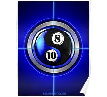 8 and 10 yin and yang Poster
