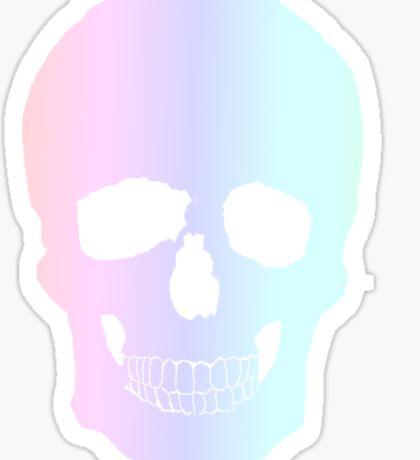Rainbow Skull Sticker