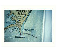 Coast of Rhode Island Art Print