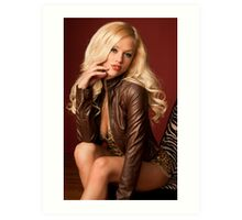 Courtney and Brown Leather Art Print