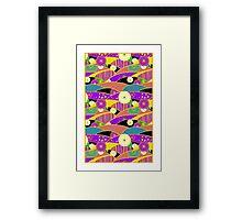 Chiyogami Lavender & Saffron [iPhone / iPod Case & Print] Framed Print