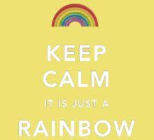 Keep Calm Is Just a Rainbow Kids Tee