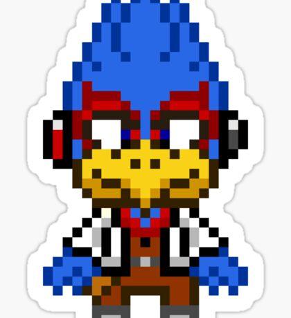 Falco Lombardi - Star Fox Team Mini Pixel Sticker