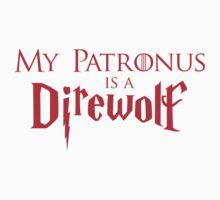 """My Patronus is a Direwolf"" Red by SevenHundred"