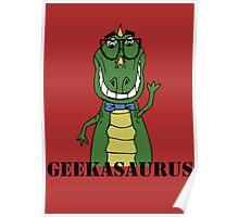 GEEKASAURUS COLOUR Poster