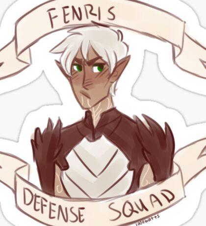 Dragon Age 2 - FENRIS DEFENSE SQUAD Sticker