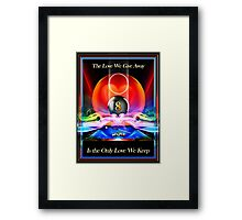 Love Kept Framed Print