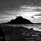 St Michaels Mount in Black and White by Paul Howarth