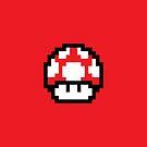 8 Bit Mushroom (Red) by MightyBytes