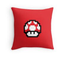 8 Bit Mushroom (Red) Throw Pillow