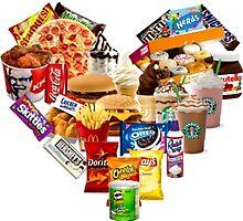 Junk Food Love Heart by pentel