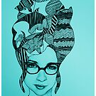 The Cat Lady In Teal by TalulaChristian