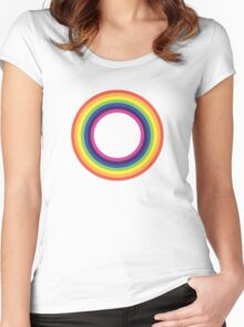 Circle Rainbow Women's Fitted Scoop T-Shirt
