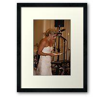 Bride's Speech Framed Print