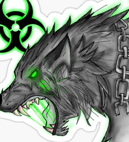 Radioactive Wolf - Green Sticker