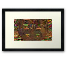 Abstract Digital Painting #17 - Stained & Warped Tessellations Framed Print
