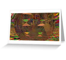 Abstract Digital Painting #17 - Stained & Warped Tessellations Greeting Card