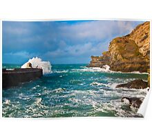 Portreath Harbour Mouth Poster