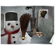 snowman at home Poster