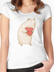 Bear with Heart Women's Fitted Scoop T-Shirt