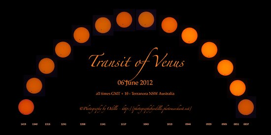 TRansit of Venus - Once in a Lifetime by Odille Esmonde-Morgan