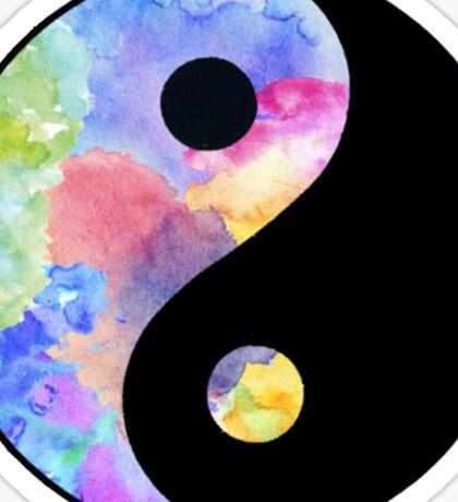 Pastel Ying Yang Sticker