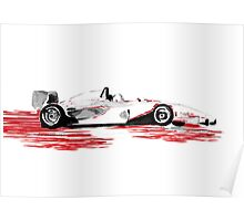 On Track! Red Racing Car Poster