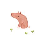 Sitting Pig by Sophie Corrigan