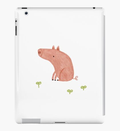 Sitting Pig iPad Case/Skin