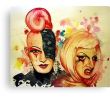 Lady Michel und Elektra Trash (VIDEO IN DESCRIPTION!) Canvas Print