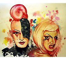 Lady Michel und Elektra Trash (VIDEO IN DESCRIPTION!) Photographic Print