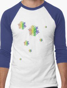 Snow Flakes Men's Baseball ¾ T-Shirt