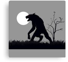 goosebumps werewolf Canvas Print