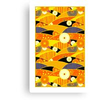 Chiyogami Tangerine & Blueberry [iPhone / iPod Case and Print] Canvas Print
