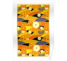 Chiyogami Tangerine & Blueberry [iPhone / iPod Case and Print] Poster