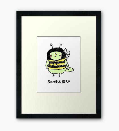 Bumblebird Framed Print