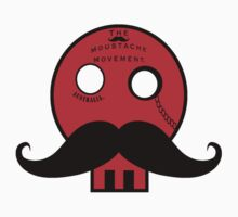 "Dapper Skull ""The_Moustache_Movement_Au"" Kids Tee"