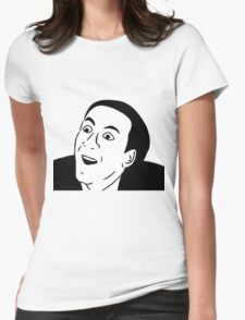 Nicolas Cage, you dont say meme Womens Fitted T-Shirt
