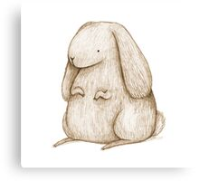 Plump Bunny Canvas Print