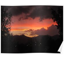Sunset In Colorado Springs Poster