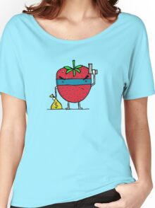 Stick Em Up...This Is A Strawberry Women's Relaxed Fit T-Shirt