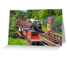 Trains at Goathland Station Greeting Card
