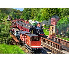 Trains at Goathland Station Photographic Print