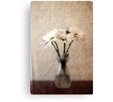 Small Vase of Daisies Canvas Print