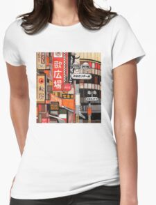 Tokyo Street Signs Womens Fitted T-Shirt