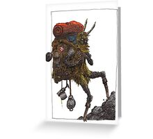 the goatman Greeting Card