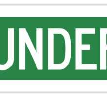 Thunder Road street sign (color version) Sticker